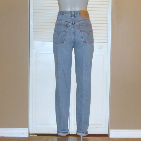 Vintage Levis 512 High Waisted Tapered Mom Jeans